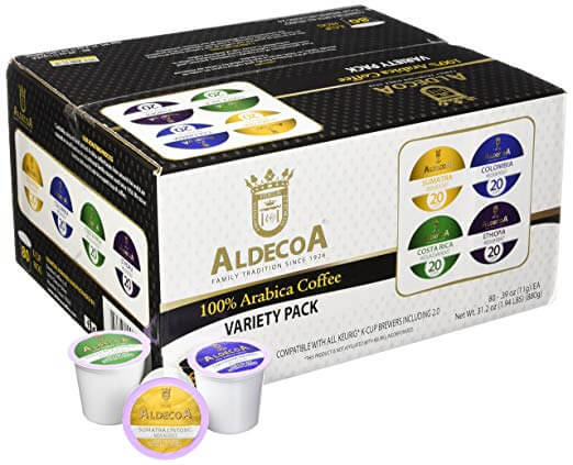 Aldecoa 100% arabica coffee variety pack k cups
