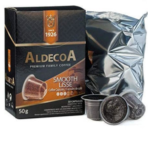 aldecoa smooth lisse coffee 20 capsule k cups