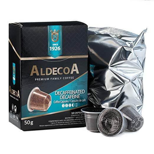 aldecoa premium decaffeinated 10 capsules k cups