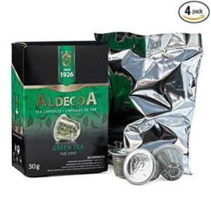 aldecoa green tea capsules the vert 30 capsules k cups