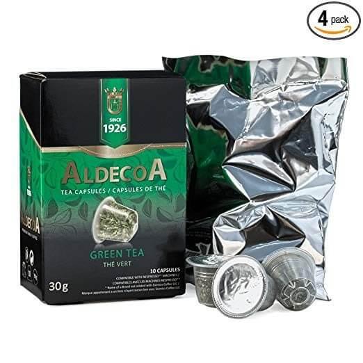 aldecoa green tea capsules the vert 30 capsules k cups