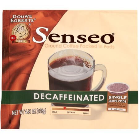 pack of senseo decaff single serve coffee pods
