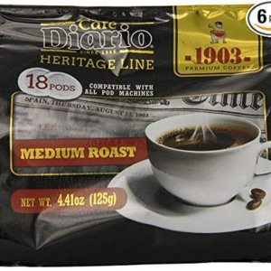 bag of exmimius coffee medium roast pods