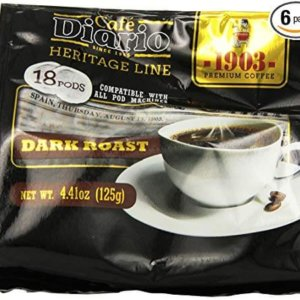 bag of exmimius coffee dark roast pods