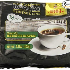 bag of exmimius coffee naturally decaffeinated roast pods