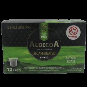 box of eximius coffee medium roast decaffeinated pods