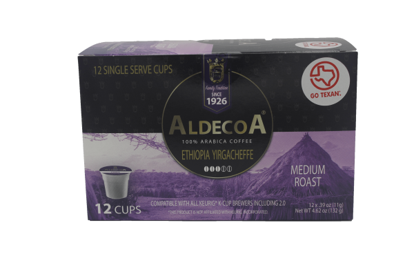 box of eximius coffee medium roast aldecoa pods