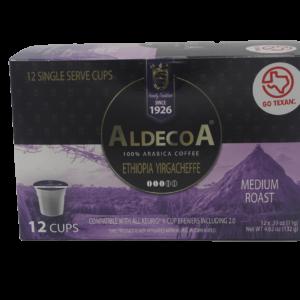 box of eximius coffee medium roast aldecoa pods