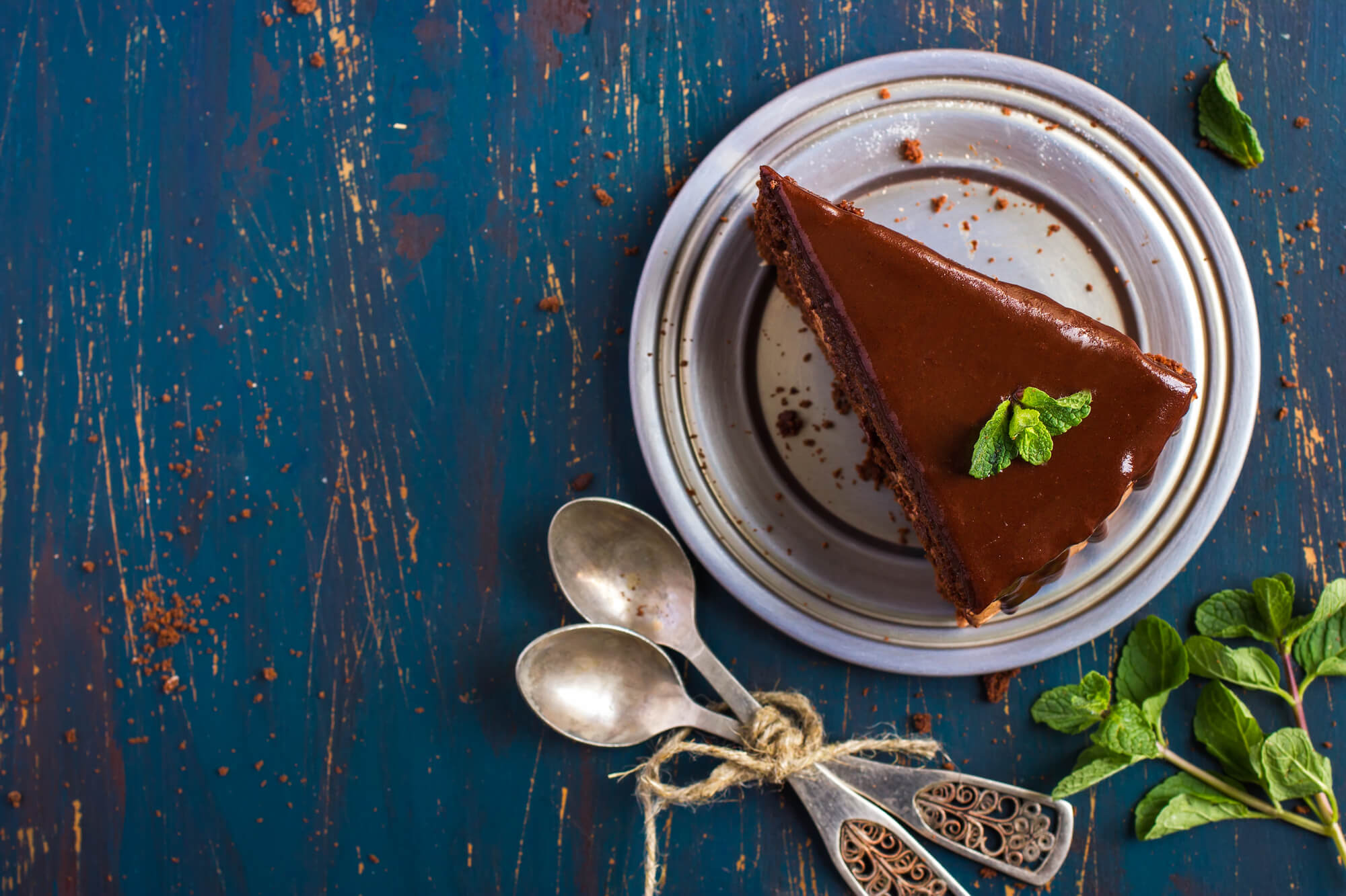A delicious chocolate torte pairs beautifully with Eximius Coffee.