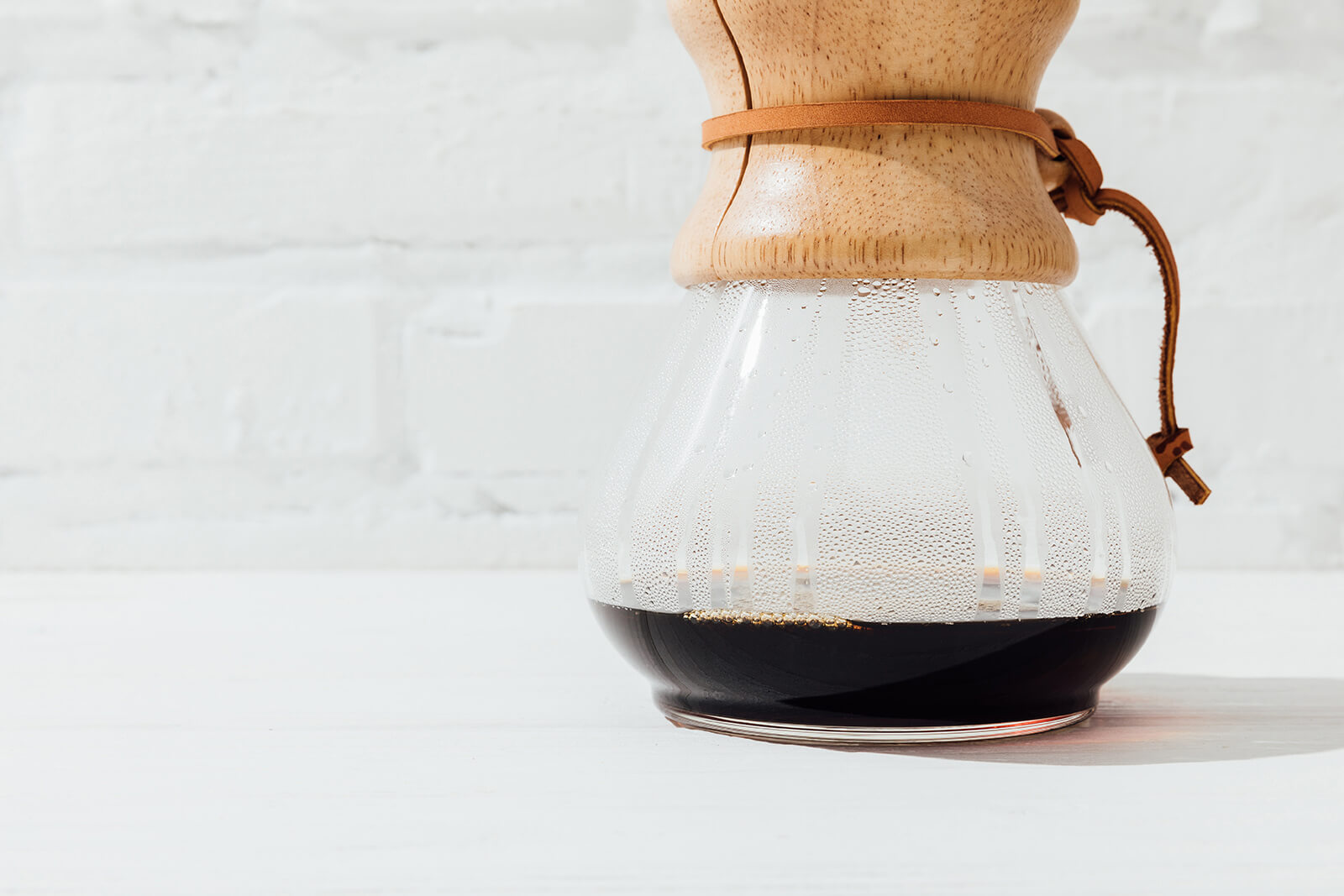 Pour-Over Glass Coffee Maker With Wood Collar